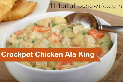 Creamy Chicken Ala King Made in the Crockpot