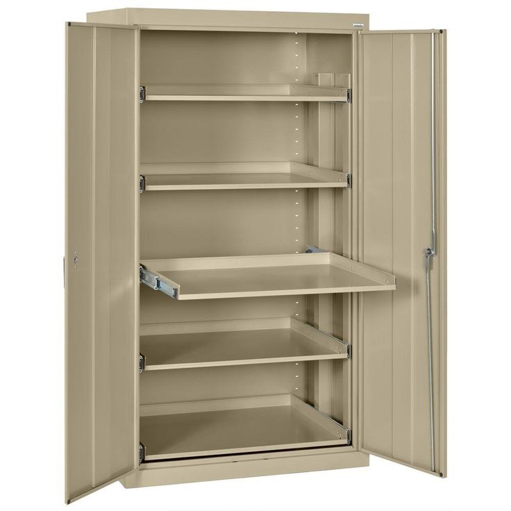 d steel heavy duty storage cabinets with pullout tray shelf in tropic sand