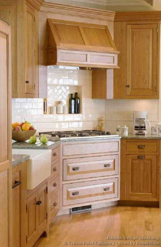 Marvelous Corner Stove In Farmhouse Style Kitchen