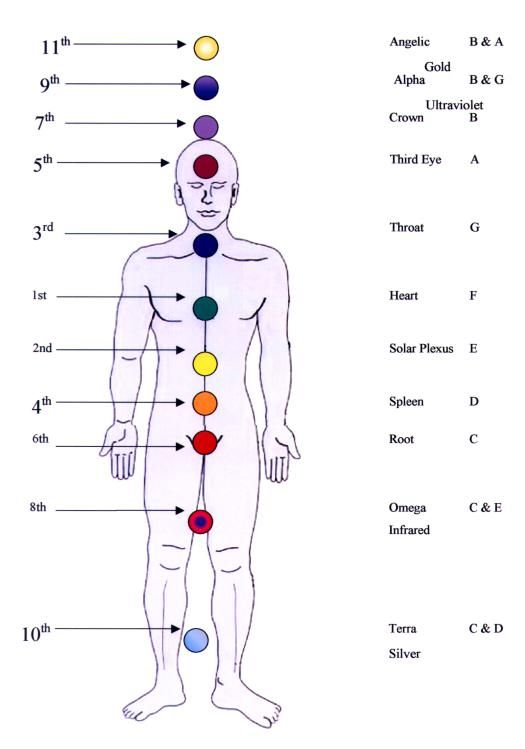 12 color chakras