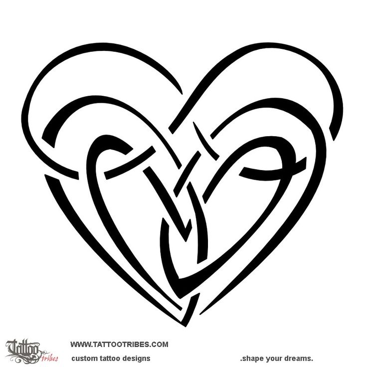 Double infinity heart. Neverending love. This tattoo represents union and eternal love among two people. It´s an infinity sign that joins two hearts making them become a single bigger heart. More original designs at www.tattootribes.com