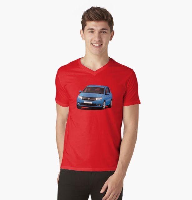 Dacia Sandero illustrations on t-shirts  #dacia #sandero #daciasandero #illustration #carillustration #tshirt #red #romanian #automobiles #cars