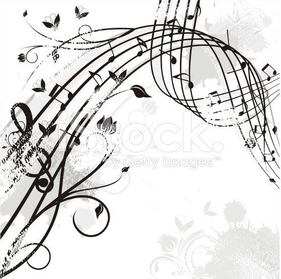 wavy music arte vettoriale stock royalty-free