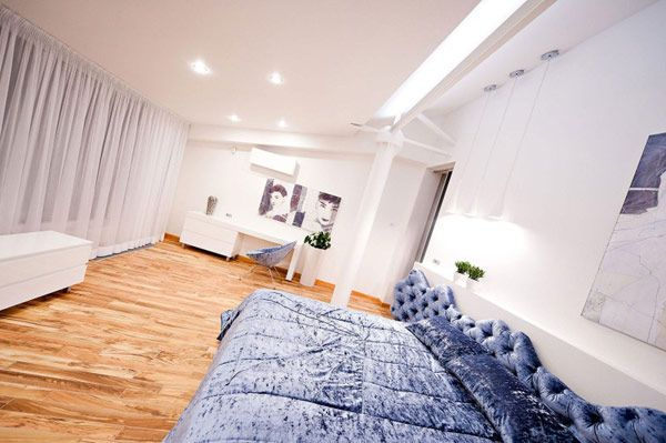 Apartment Design, Horse Bedroom Decor As White Furniutre And White Wooden Wardrobe Loft Apartment 17 800x532: Mesmerizing Highly Contemporar...