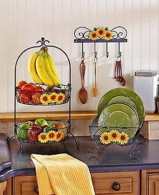 Details About Sunflower Country Kitchen Decor Collection Iron Farmhouse Rustic Primitive New