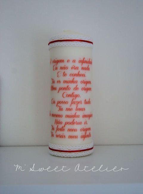 Bougie de Mariage Personnalisée http://m-sweet-atelier.com/bougies-de ...