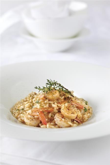 Ριζότο με γαρίδες και κρέμα αβοκάντο
