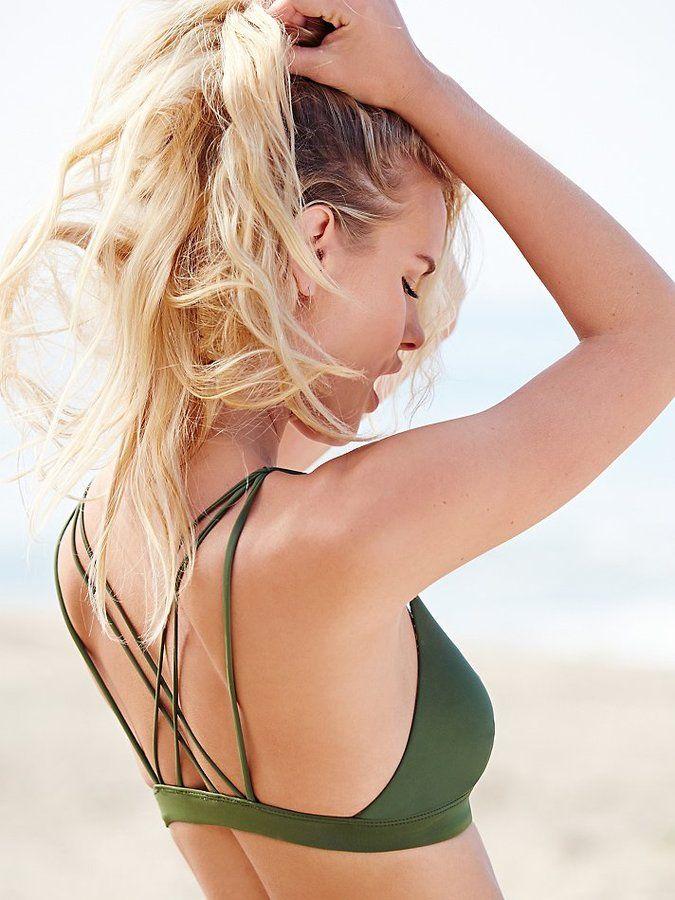 Acacia Awapuhi Army Green Bikini Top