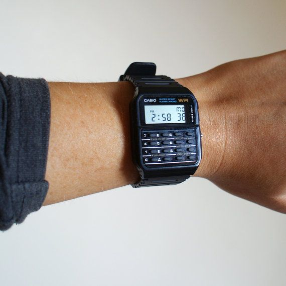 Black Casio Calculator Watch
