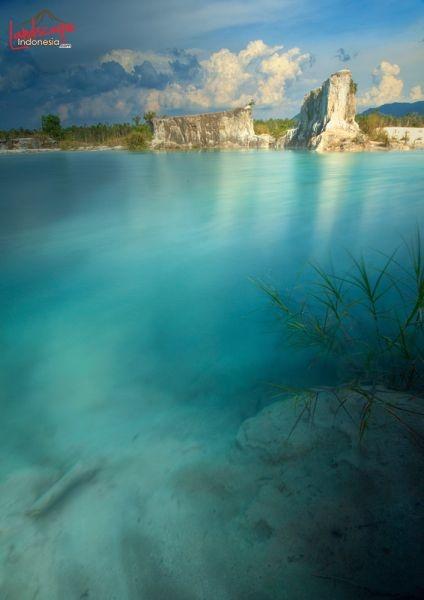 Singkawang Blue Lake, Kalimantan, Indonesia