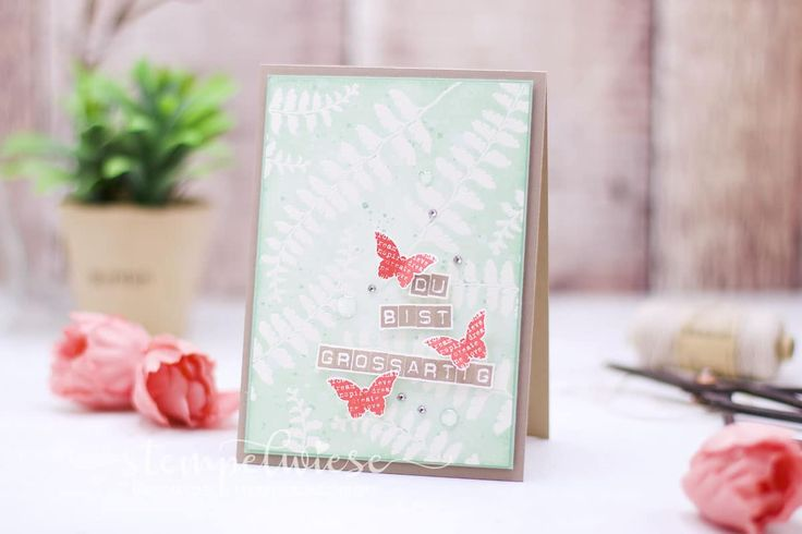 Grußkarte - Du bist großartig in den Farben Taupe, Melonensorbet und Minzmakrone