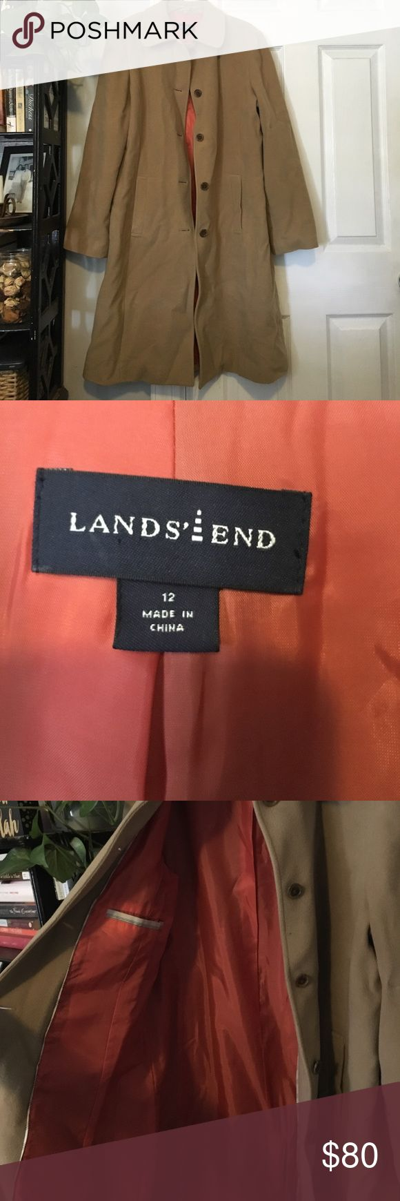 Lands End Winter Coat Lands' End women's hundred percent wool winter jacket. Apologize for wrinkles was stored. Lands' End Jackets & Coats