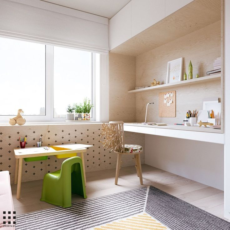 A scandinavian style apartment perfect for a small family includes floor plan