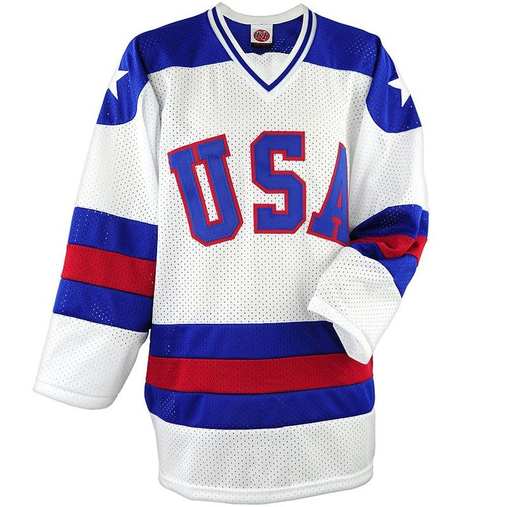 Men's USA Hockey Miracle On Ice Replica Jersey, White