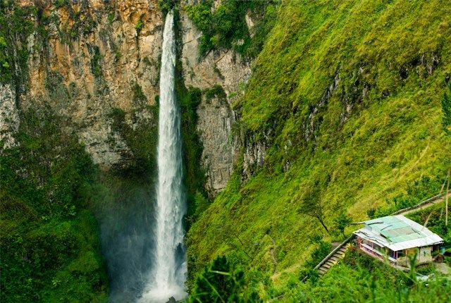 Sipisopiso Waterfall, Tongging, North Sumatra, Indonesia