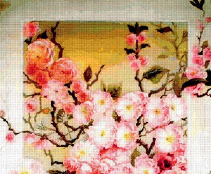 Схема вышивки «нежная сакура