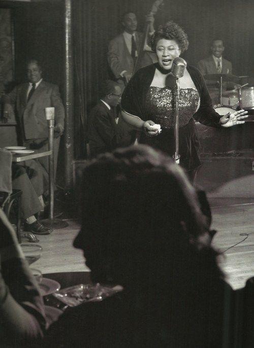 Ella Fitzgerald, New York 1949; photographed by Herman Leonard