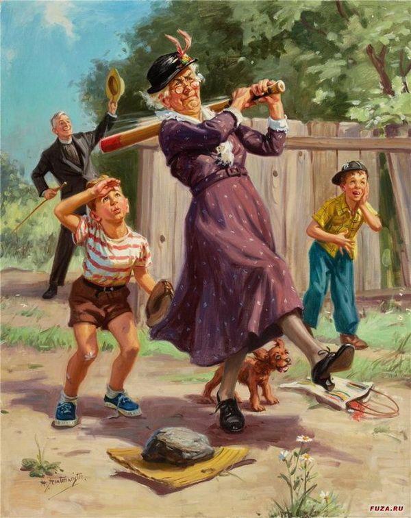 Grandma's at bat...going...going...gone...⚾️