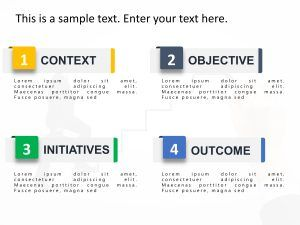 Use 4 steps Executive Summary PowerPoint Template to