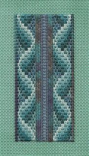 Lizart: Fun with Fiber Bargello needlepoint