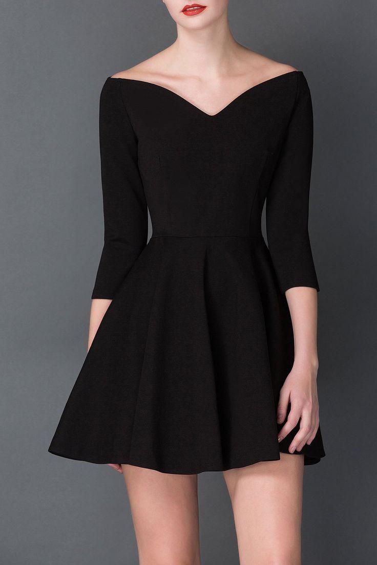 V Neck Mini Hepburn dress