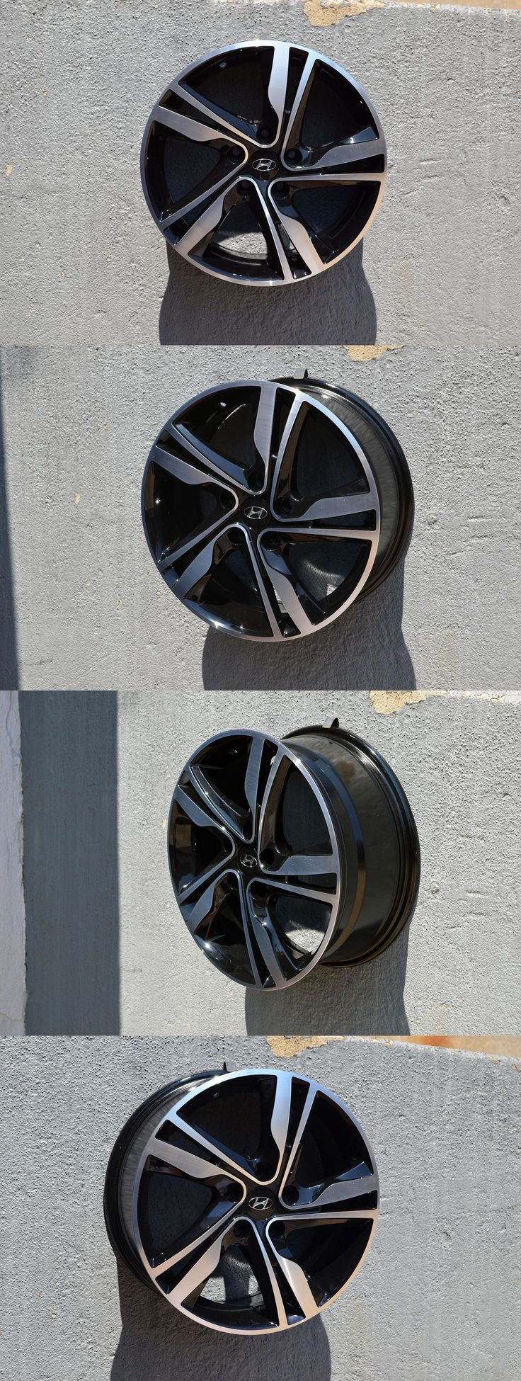auto parts - general: Set Of 4 Wheels 17 Inch Black Machined Rims Fit Hyundai Sonata Gls -> BUY IT NOW ONLY: $399.99 on eBay!
