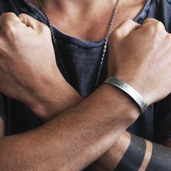 Mens Silberarmband personalisierte Mann Schmuck Custom – Mode für den Mann