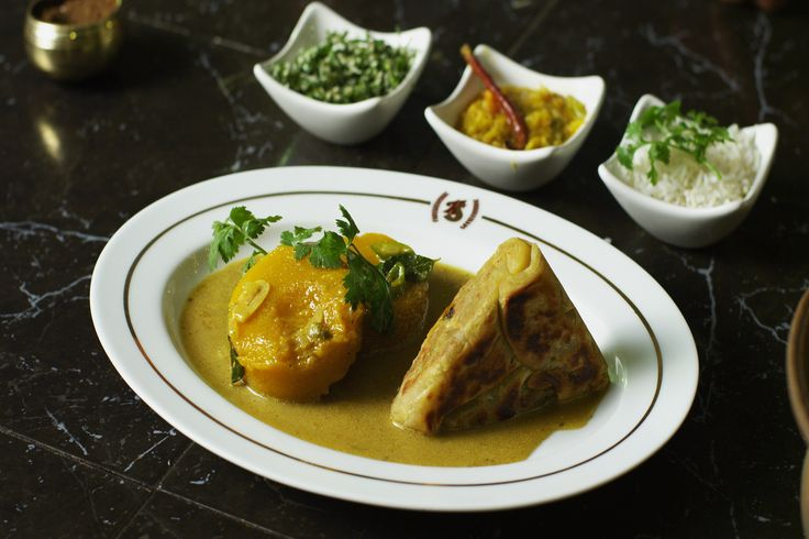 Pumpkin Curry with Brinjal Roti  #vegan