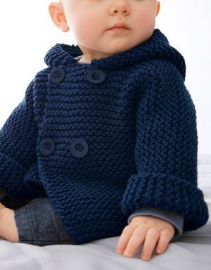 Modèle paletot bleu layette Fil Aviso