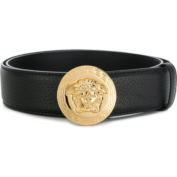 477ced8ace Versace Medusa logo belt ($376) ❤ liked on Polyvore featuring men's ...