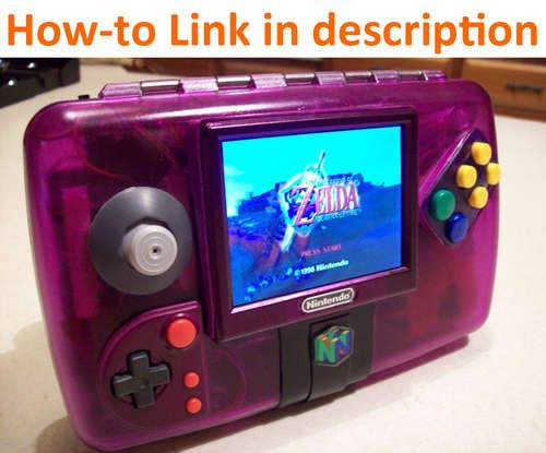 I've never wanted anything more than I want this Nintendo 64 portable. this is amazing!