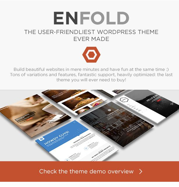 Enfold is a clean, super flexible and fully responsive  WordPress Theme (try resizing your browser), suited for business w...