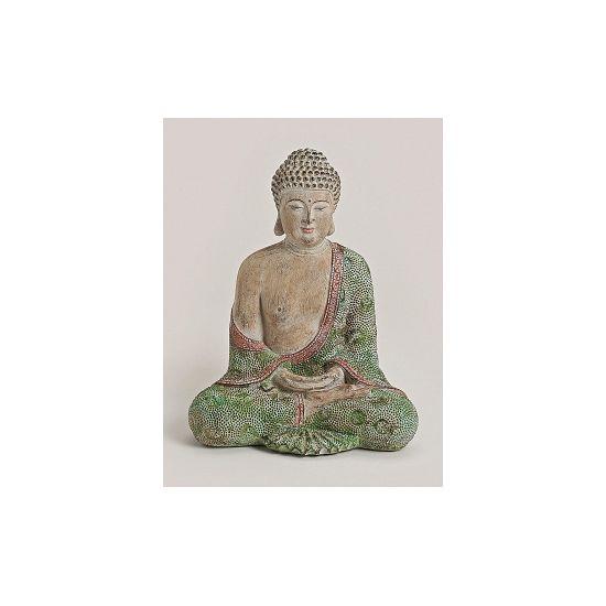 Polystone beeld Boeddha 30 cm