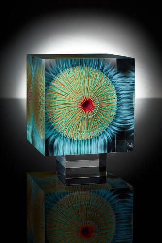 3 | These Alien Glass Paintings Hide An Awesome Optical Illusion Inside | Co.Design | business + design