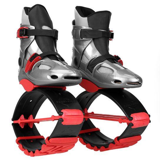 Botas De Salto Quuz Tipo Kangoo Bounce - Gris+Rojo