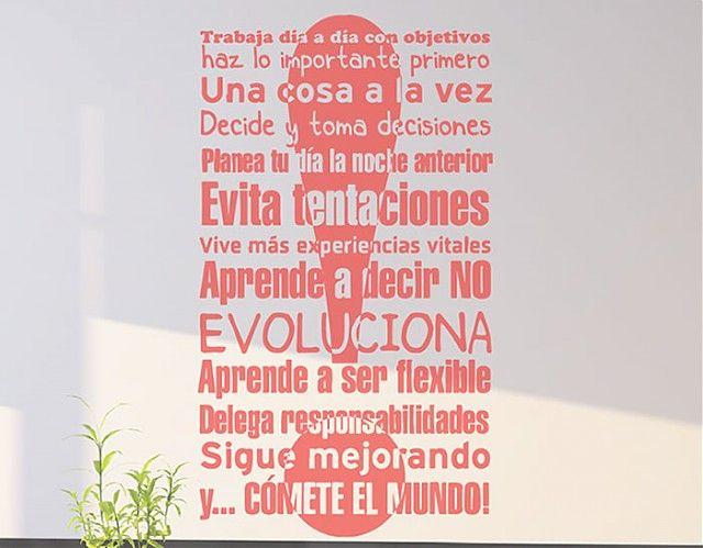 """#Vinilos con #frases de éxito """"Claves para tener éxito en el trabajo"""" 04136"""