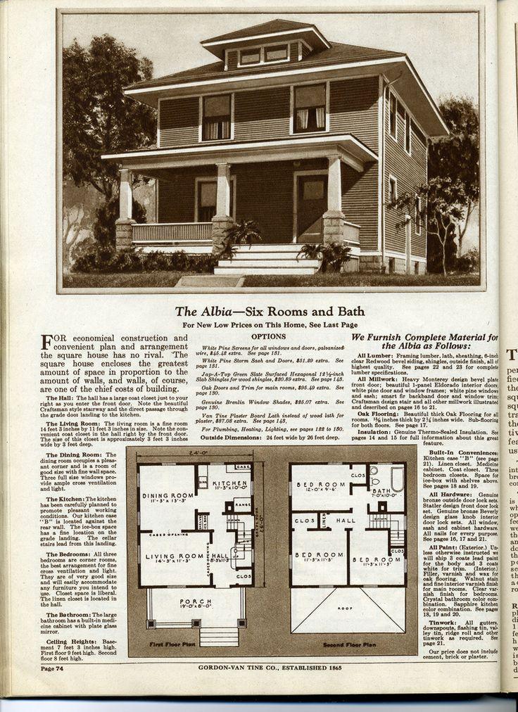 Best Foursquare Plans Images On Pinterest Vintage House Plans - Craftsman foursquare house plans