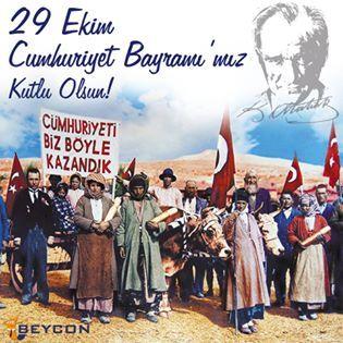 29 Ekim Cumhuriyet Bayramı'mız kutlu olsun! #29Ekim #CumhuriyetBayramı #BEYCON