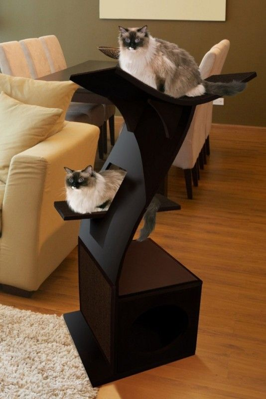 Little Lotus Cat Tower White