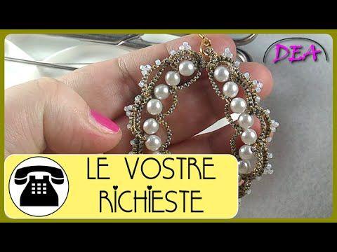Chiacchierino a Navette - Orecchini: Archi e Cerchi con perline a coppie e a quartetto - YouTube