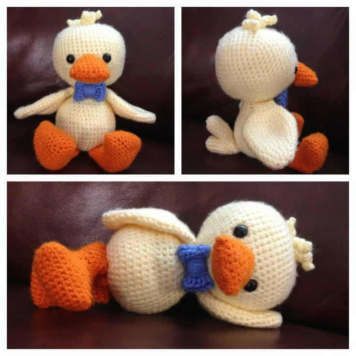 My ducky William, made from the free pattern kindly provided by amigurumibb!