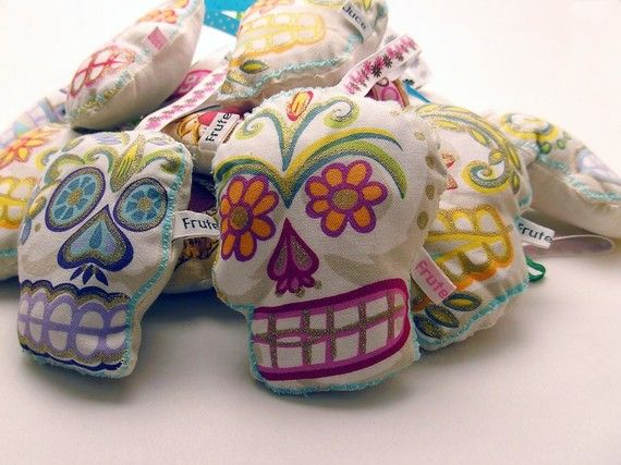 Sugar Skull Lavender bag candy skull sachet aromatic by FruteJuce, £6.25  Craft Britiannia shop of the week.