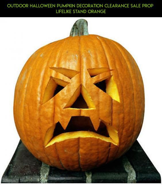 outdoor halloween pumpkin decoration clearance sale prop lifelike stand orange clearance racing camera