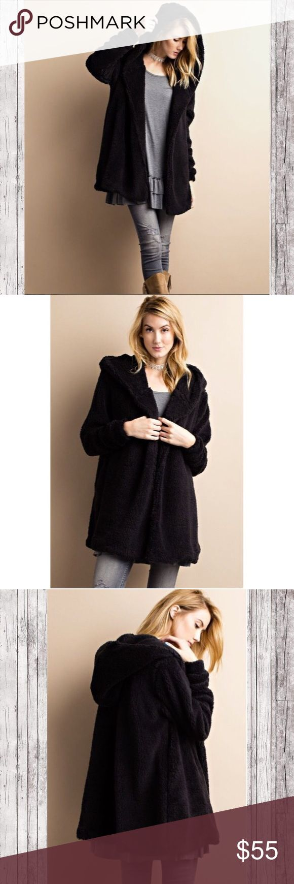 Softest & Most Stylish Coat of this season! You know those blankets that are so soft and thick that you MUST have?  Well this coat is made of that same material!  Imagine being wrapped in the softest coat you've ever felt all winter long!  Not only is it super soft but so cute on and right on trend!  Get yours before they're all gone!  These run slightly oversized. Jackets & Coats