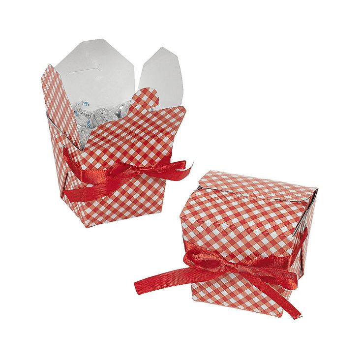 Red+Gingham+Take+Out+Boxes+-+OrientalTrading.com