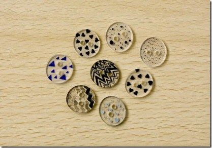 Tutorial – Shrink Plastic Buttons || Make your own unique buttons using shrink plastic and permanent ink!