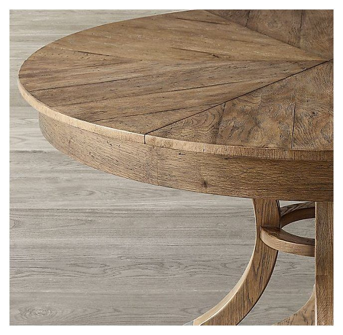 Addison Round Jupe Extension Dining, Round Dining Table With Extension Leaf