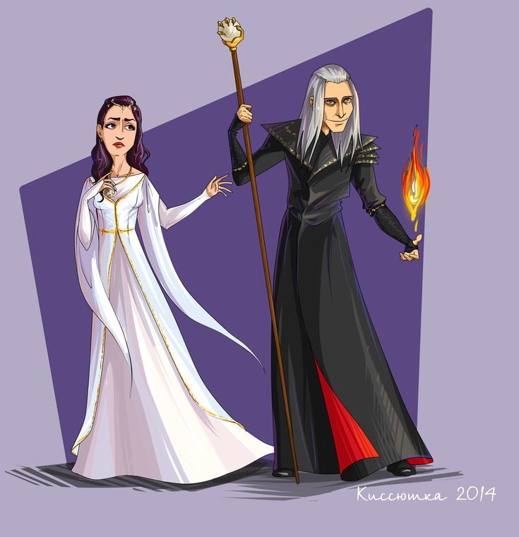 Raistlin and  Crysania 01 by kissyushka.deviantart.com on @DeviantArt