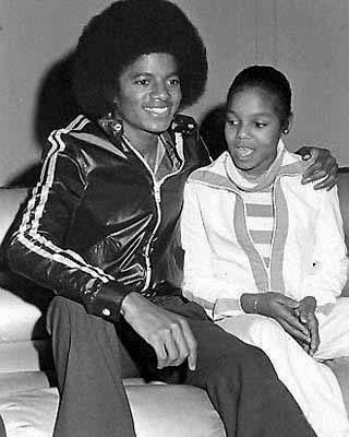 Michael and Janet Jackson. 1970's | from http://www.retronaut.com/