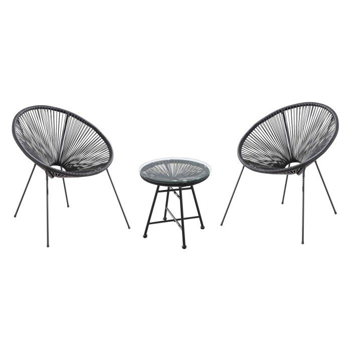 Velago Acapulco Steel 3 Piece Patio Bistro Set Hayneedle